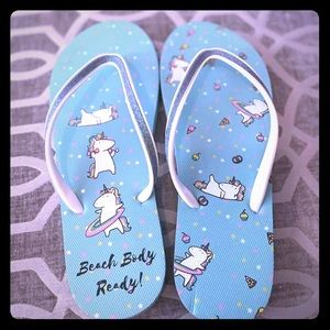 Shoes - 🦄 Unicorn Flip Flops 🦄